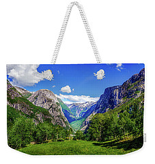 Weekender Tote Bag featuring the photograph Sunny Day In Naroydalen Valley by Dmytro Korol
