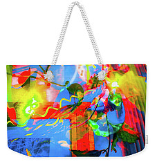 Weekender Tote Bag featuring the photograph Sunny Disposition by Adria Trail
