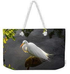 Sunny Egret Weekender Tote Bag by Josy Cue