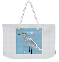 Weekender Tote Bag featuring the photograph Sunny Egret by Steven Sparks