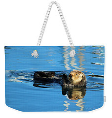 Sunny Faced Sea Otter Weekender Tote Bag