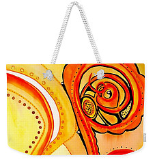 Weekender Tote Bag featuring the painting Sunny Flower - Art By Dora Hathazi Mendes by Dora Hathazi Mendes
