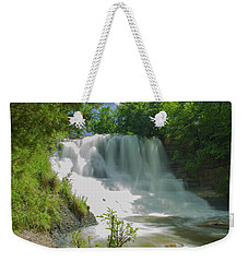 Sunny Flowing Falls Weekender Tote Bag by Shelly Gunderson