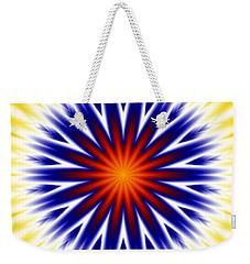 Sunny Fractal Tie Dye Weekender Tote Bag