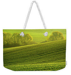 Weekender Tote Bag featuring the photograph Sunny Green by Jenny Rainbow
