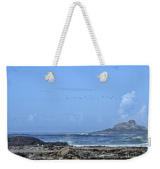 Weekender Tote Bag featuring the photograph Sunny Morning At Roads End by Peggy Hughes