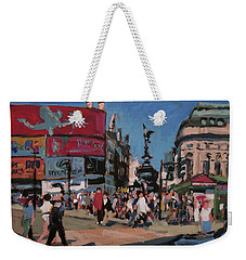 Weekender Tote Bag featuring the painting Sunny Piccadilly by Nop Briex