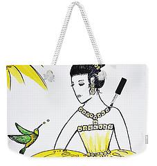 Sunny Princess Talk With Hummingbird Weekender Tote Bag