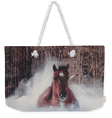 Sunny Running For The Barn. Weekender Tote Bag