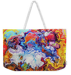 Sunny Side Of The Street - Colorful Psychedelic Abstract Painting Weekender Tote Bag
