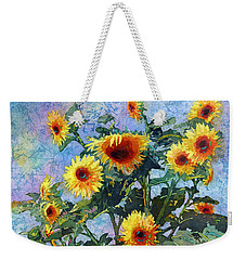 Weekender Tote Bag featuring the painting Sunny Sundance by Hailey E Herrera