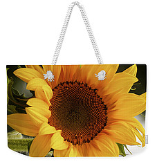Weekender Tote Bag featuring the photograph Sunny Sunflower by Jordan Blackstone