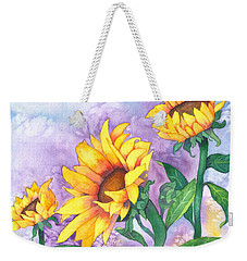 Sunny Sunflowers Weekender Tote Bag