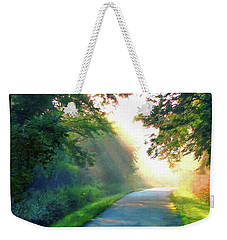 Sunny Trail Weekender Tote Bag by Cedric Hampton