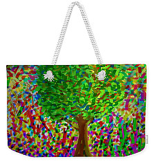 Weekender Tote Bag featuring the painting Sunny Tree by Kevin Caudill