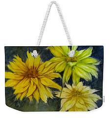 Sunny Yellow Weekender Tote Bag by Barbara O'Toole
