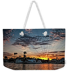 Sunrays Over Huntington Harbour Weekender Tote Bag