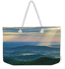 Sunrays Over The Blue Ridge Mountains Weekender Tote Bag