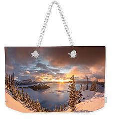 Sunrise After Summer Snowfall Weekender Tote Bag