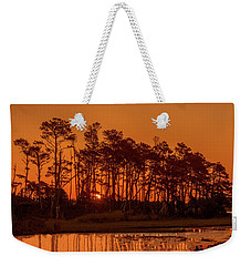 Sunrise Along A Tree Line Weekender Tote Bag