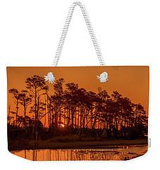 Sunrise Along A Tree Line Weekender Tote Bag