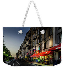 Sunrise Along River Street Weekender Tote Bag