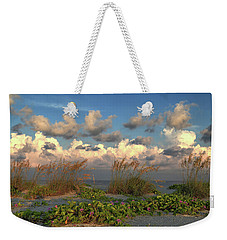Weekender Tote Bag featuring the photograph Sunrise And Sea Oats by Donna Kennedy