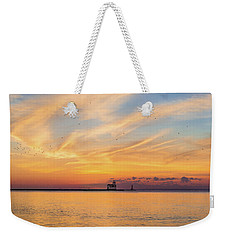 Weekender Tote Bag featuring the photograph Sunrise And Splendor by Bill Pevlor
