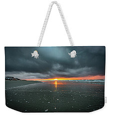 Sunrise And Storm Clouds - Isle Of Palms, Sc Weekender Tote Bag