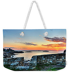 Sunrise At Castle Rock Marblehead Ma Weekender Tote Bag
