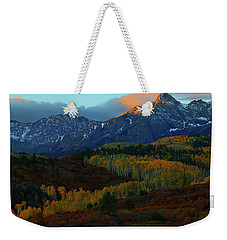 Sunrise At Dallas Divide During Autumn Weekender Tote Bag