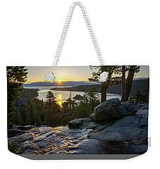 Sunrise At Emerald Bay In Lake Tahoe Weekender Tote Bag
