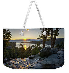 Sunrise At Emerald Bay In Lake Tahoe Weekender Tote Bag