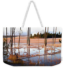 Sunrise At Fountain Paint Pots, Yellowstone National Park, Usa Weekender Tote Bag by Greg Sigrist