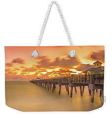 Weekender Tote Bag featuring the photograph Sunrise At Juno Beach by Francisco Gomez
