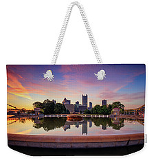 Weekender Tote Bag featuring the photograph Sunrise At Point State Park by Emmanuel Panagiotakis