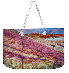 Weekender Tote Bag featuring the photograph Sunrise At Rainbow Rock by Darren White