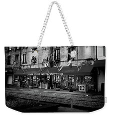 Sunrise At River Street Sweets In Black And White Weekender Tote Bag