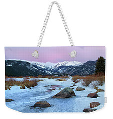 Sunrise At Rocky Mountain National Park Weekender Tote Bag