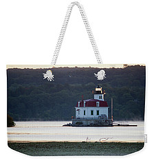 Weekender Tote Bag featuring the photograph Sunrise At The Esopus Lighthouse by Jeff Severson