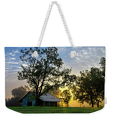 Weekender Tote Bag featuring the photograph Sunrise At The Farm by George Randy Bass
