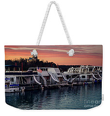Lake Murray Sunrise At The Marina Weekender Tote Bag by Tamyra Ayles