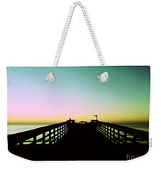 Sunrise At The Myrtle Beach State Park Pier In South Carolina Us Weekender Tote Bag