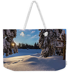 sunrise at the Oderteich, Harz Weekender Tote Bag