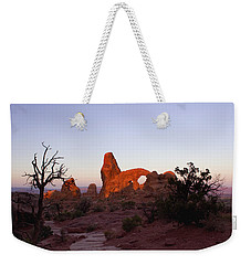 Sunrise At Tower Arch Weekender Tote Bag