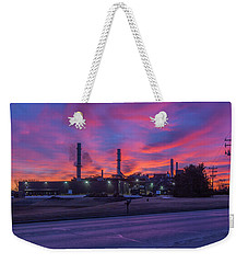 Sunrise At Waupaca Foundry Plants 2 And 3 3-24-2018 Weekender Tote Bag