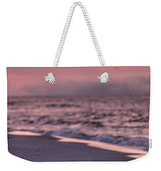 Weekender Tote Bag featuring the photograph Sunrise Beach And Bird by John McGraw