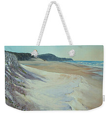 Weekender Tote Bag featuring the painting Sunrise Beach And Lions Head Noosa Heads Queensland by Chris Hobel