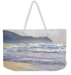 Weekender Tote Bag featuring the painting Sunrise Beach Sunshine Coast Queensland Australia by Chris Hobel
