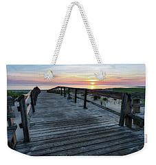 Sunrise Boardwalk, Cranes Beach Weekender Tote Bag